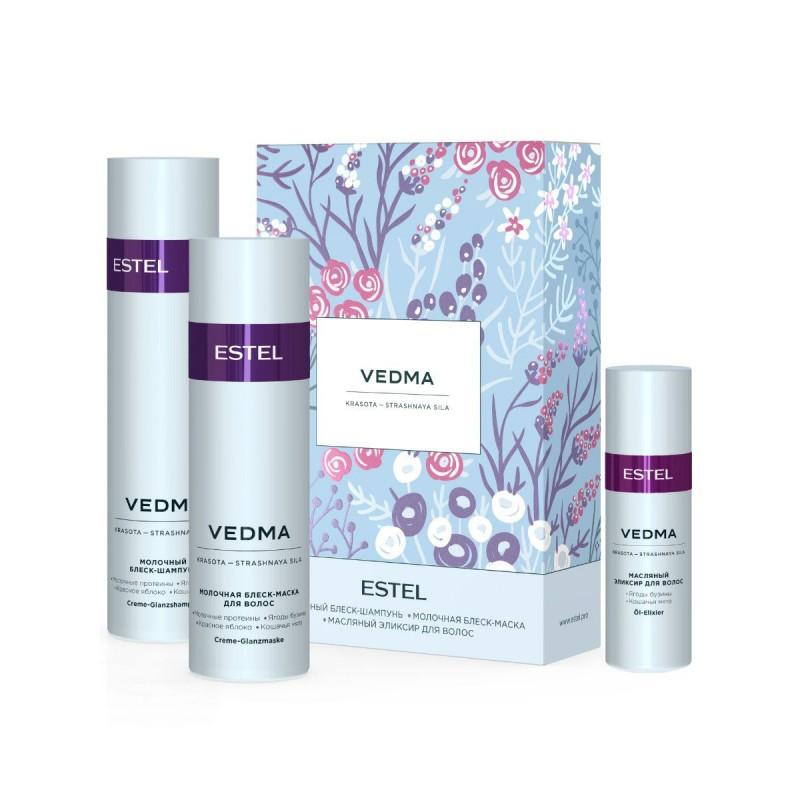 Estel Косметический набор VEDMA для блеска волос, 250+200+50 мл