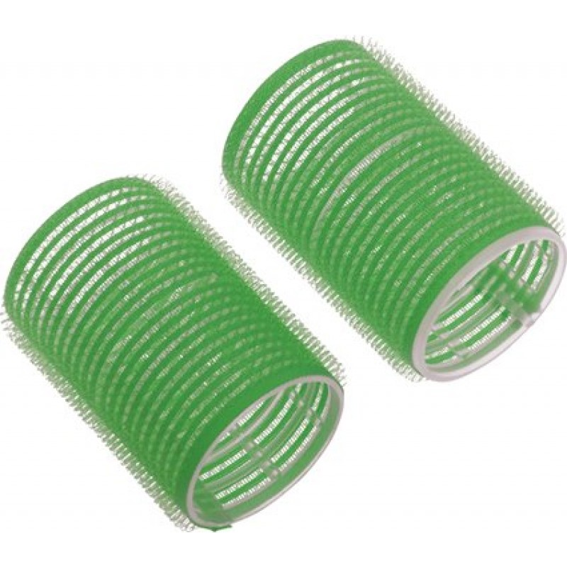 Бигуди липучки d 20 мм 12 шт зеленые